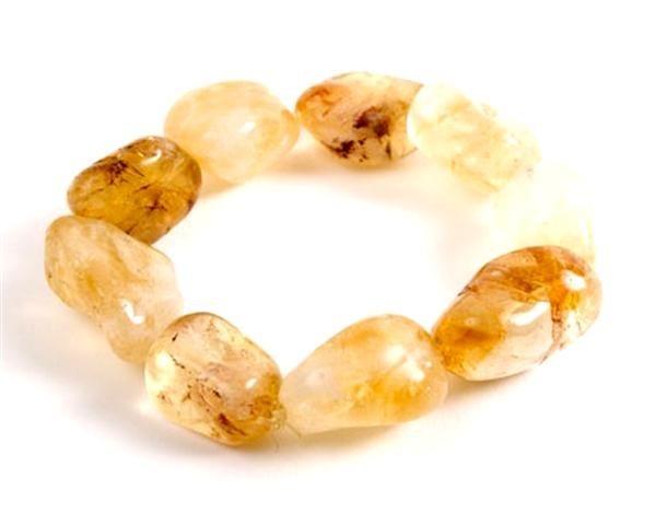 Caramel Crunch Citrine Nugget Bracelet