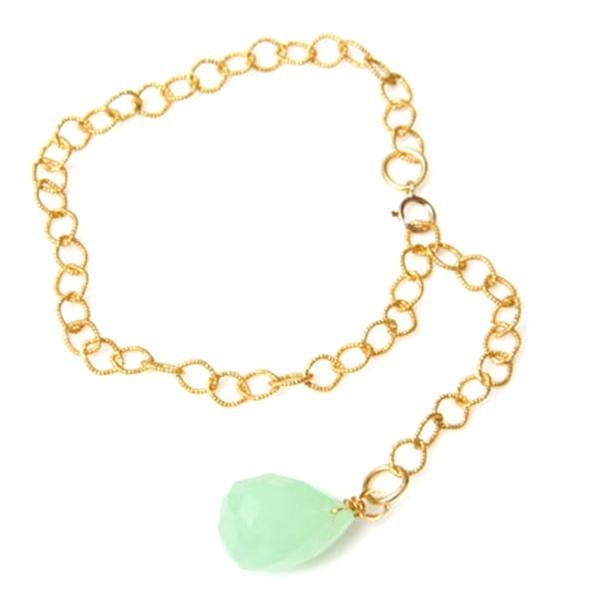 Melon Drop Green Quartz Bracelet