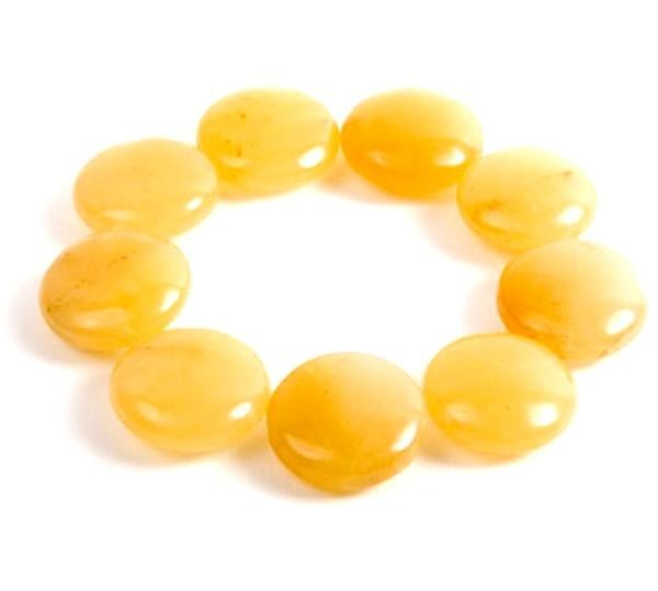 Honeycomb Honey Jade Bracelet