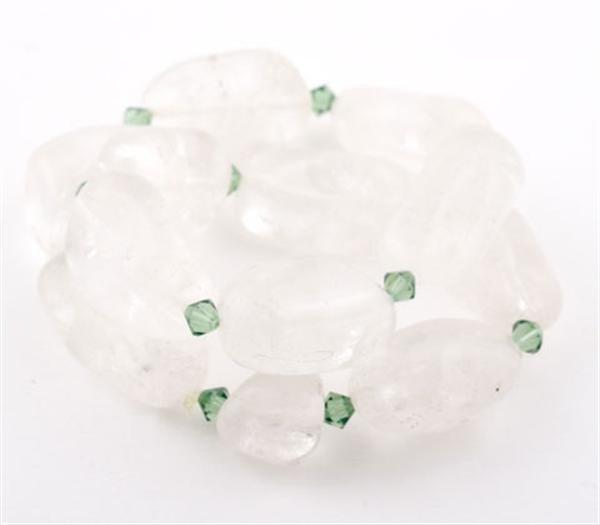 Ice Glaze Crystal Nugget Double Wrap Bracelet