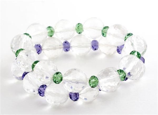 Lime Crush Lavender Drop Crystal Bracelets
