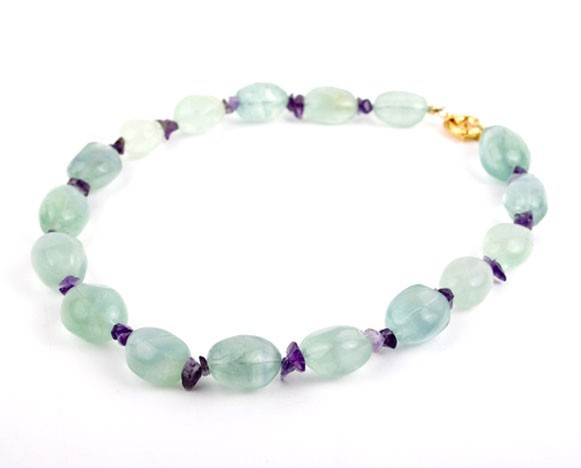 Lime Crush Flourite Nugget Necklace