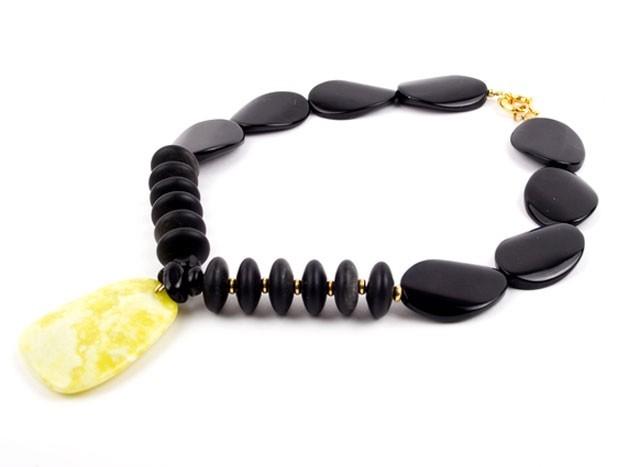 Liquorice Agate Twist Necklace