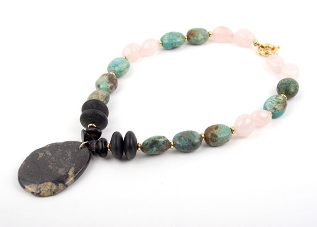 Mint Pebble Turquoise Necklace