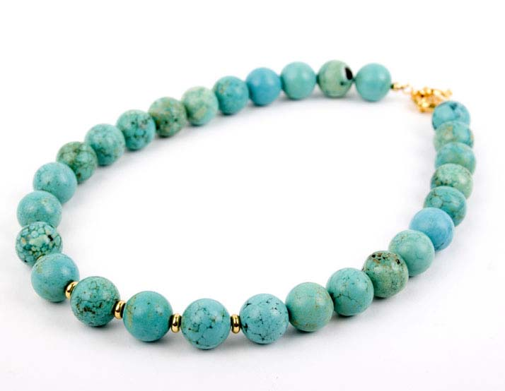 Spearmint Crackle African Turquoise Necklace