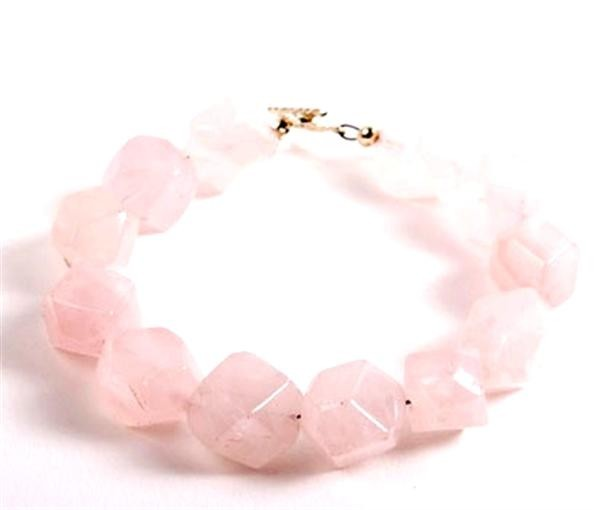 Strawberry Quartz Jawbreaker Bracelet