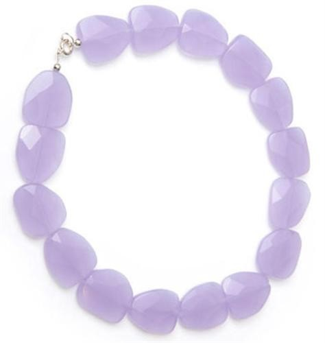 Violet Cream Nugget Quartz Necklace